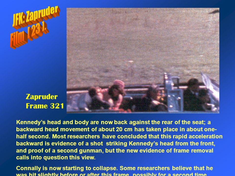 JFK: Zapruder Film [ 23 ]. Zapruder Frame 321